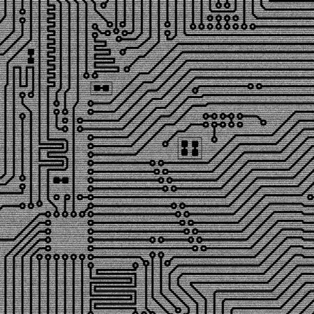 Black and white background of electronic plate photo
