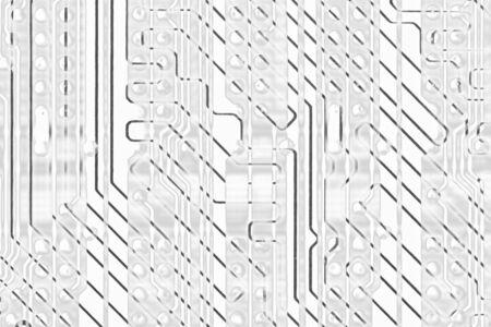 Abstract monochrome circuit board electronics hi-tech background Stock Photo - 6482597