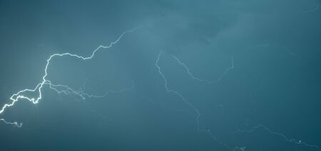 Panoramic photograph lightning flashes across the sky Stock Photo - 6482607