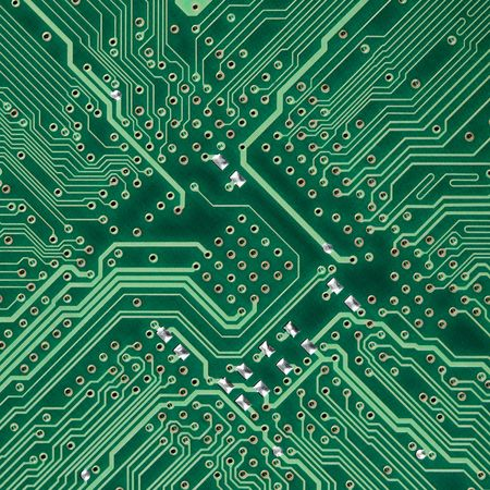 Green circuit board electronic square photo - texture photo