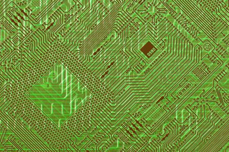 Circuit board electronic green fantastic diagonal background photo