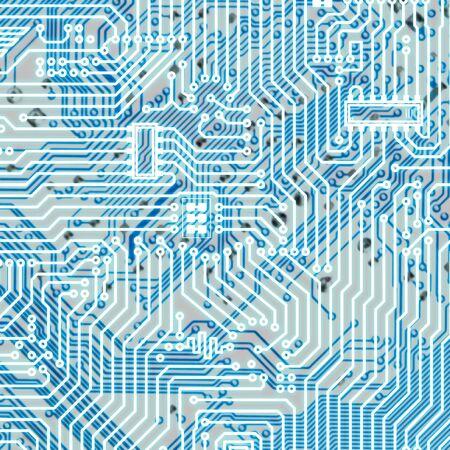 Circuit board light blue square hi-tech texture Stock Photo - 6536564