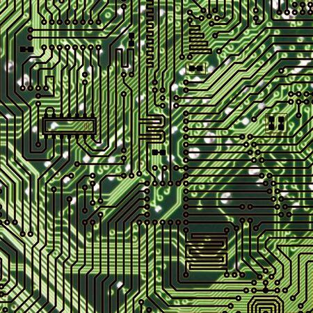 Circuit board dark green square hi-tech texture Stock Photo - 6536554