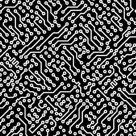 Electronic monochrome black and white high-tech texture photo