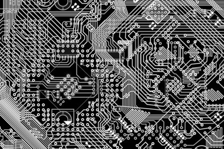Electronic monochrome black and white high-tech background photo