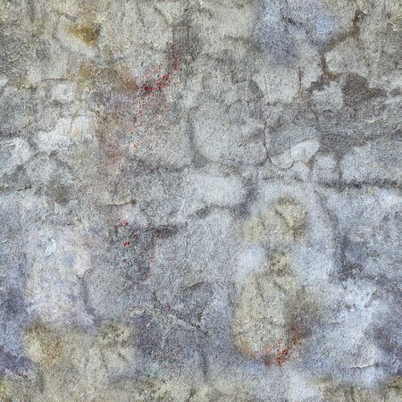 mustiness: Seamless pattern of grunge gray concrete wall with spots Stock Photo