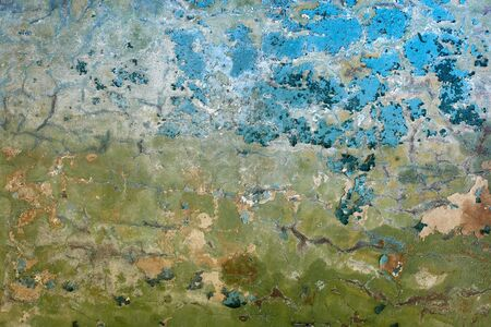 Background of the old dirty walls covered with peeling paint Stock Photo - 6574542