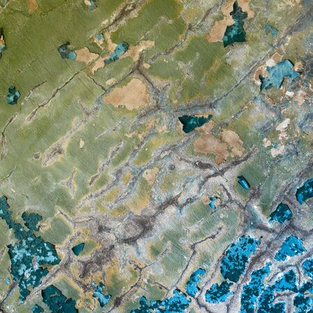 Background of the surface of the old dirty walls covered with peeling paint Stock Photo - 6574548