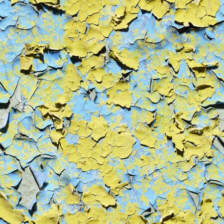 Seamless texture - old dirty wall covered with peeling paint Stock Photo - 6626112