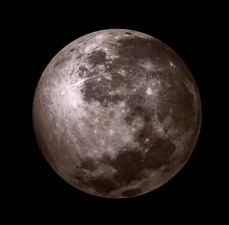 3D - moon in the black sky without stars photo