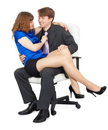 Die schönen Mädchen - die Sekretärin in eine Runde an der Spitze