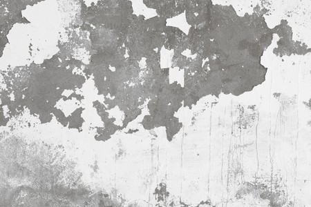 Grey background - a concrete wall with the damaged whitewashing Stock Photo - 7031590