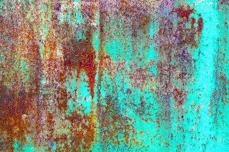 oxidated: Hoja de metal oxidado cubierto con pintura vieja