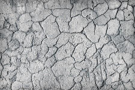 plaster mould: Deep large cracks on the surface of old plaster