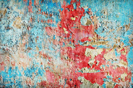 Weather-beaten paint different colors on the old wall Stock Photo - 7300623