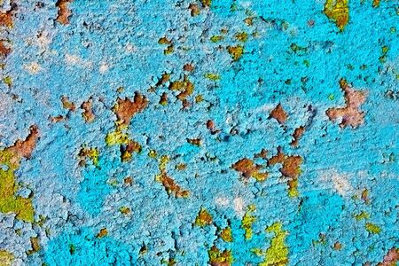 Texture - The old weather-beaten wall are covered with dirty damaged paint Stock Photo - 7313350