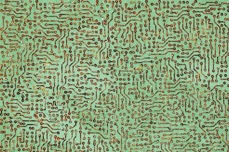 Abstract green background - the rusty electronic board photo