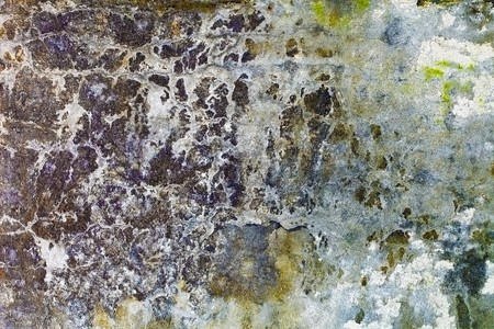 plaster mould: Time, water and wind destroyed a stone wall