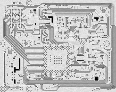 mainboard: The industrial abstract circuit board background - an illustration Stock Photo