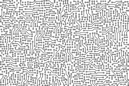 circuitboard: Industriale astratta elettronico monocromatica background - silhouette