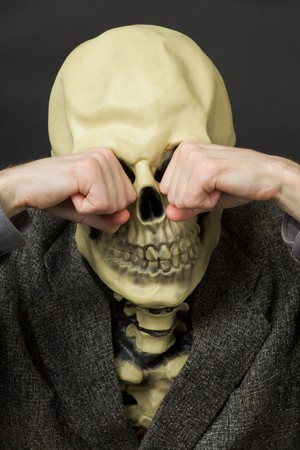 Crying death against a dark background - a portrait Stock Photo - 7541203