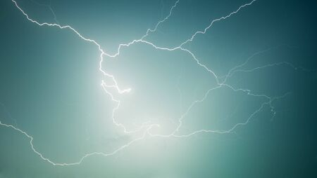 lightning - electrical discharge in the sky photo
