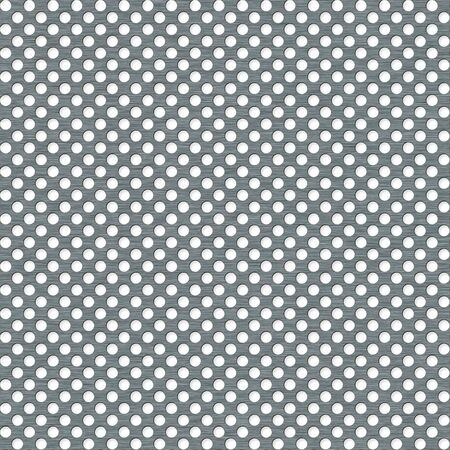 Metal plate with apertures - the illustrated background Stock Photo