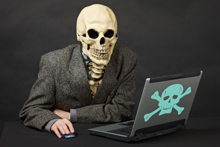 About the mortal danger computers and the Internet Stock Photo - 7646810