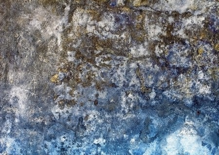 mustiness: Old rough moldy plaster on a brick wall