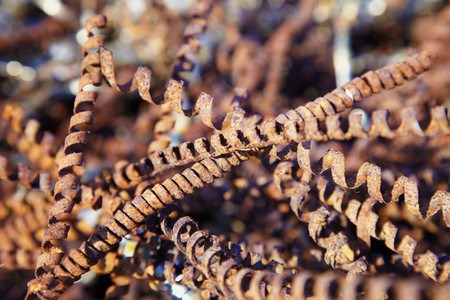 Rusty metal shavings - the industrial waste Stock Photo - 7966715