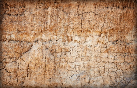 decomposed: Background - brown clay soil with cracks and stains