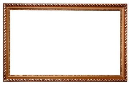 Baroque picture frame: Cadre en bois pour les peintures isol� sur fond blanc Banque d'images