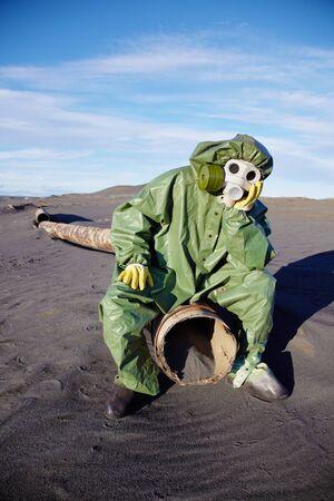 pipe dream: El ecologista cient�fico afligido en desierto urban�stico Foto de archivo