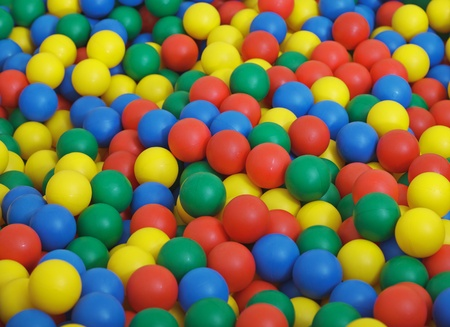 playcentre: The big childrens game complex - pool from color plastic balls
