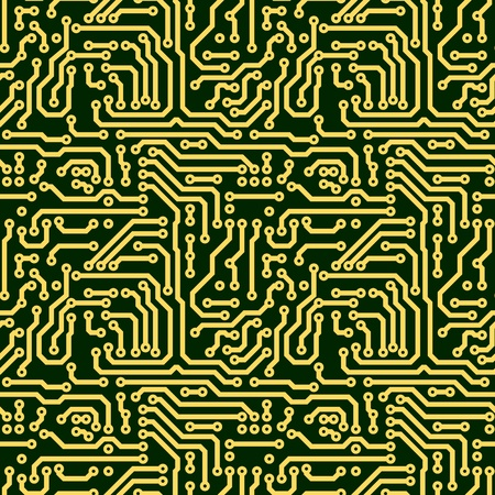 Abstract seamless texture - green electronic circuit board photo