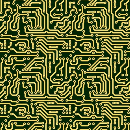 Placa de circuito electrónico de textura transparente abstracto - verde