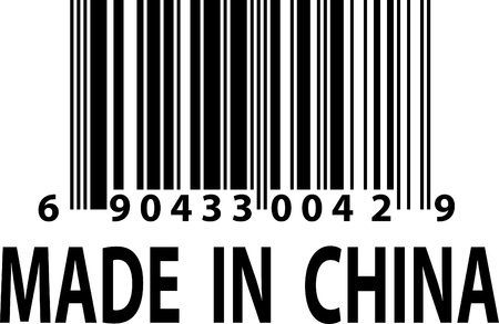 made in china: A vector barcode label - Made in China