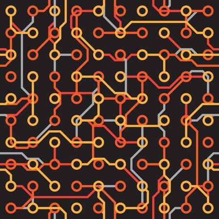 electronic elements: Seamless texture - elementi elettronici contro uno sfondo scuro