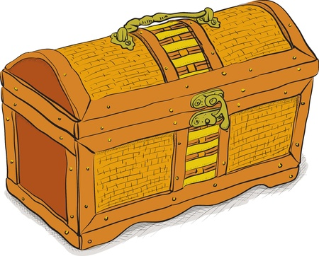 Ancient pirate chest - color vector illustration eps8 Vector