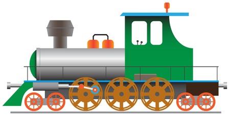 Locomotora de vapor estilizada - eps8 de ilustración vectorial