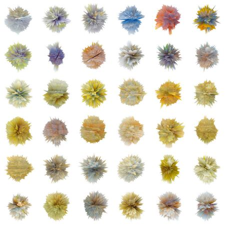Set of color abstract substances of the different form isolated on white background Stock Photo - 8978618
