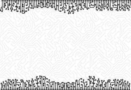 technological: Abstract monochrome technological circuit board background eps8 Illustration