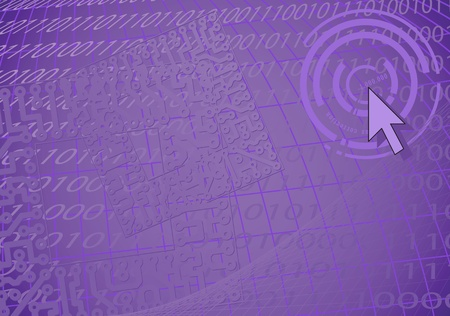 urbanistic: Violet fantastic urbanistic computer background - eps8