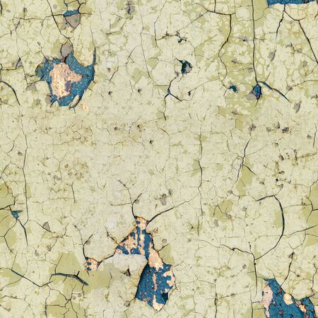Seamless texture - half-rotten old enamel on the surface of the wall photo