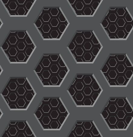 Seamless texture - a two-layer lattice with six-coal apertures Illustration