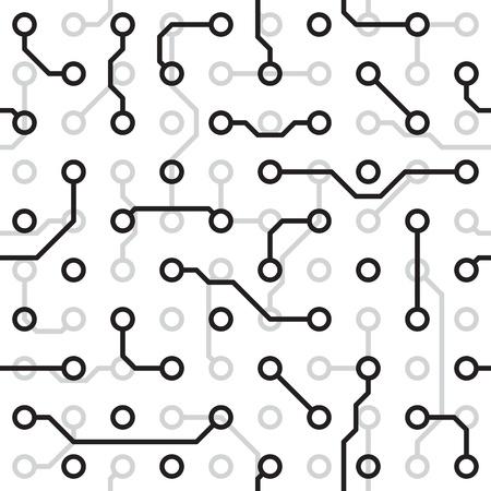 Seamless Texture - die Platine Monochrom Muster