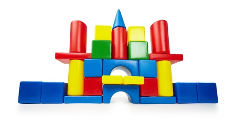 Toy color castle isolated on white background Stock Photo - 9292024