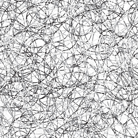 Seamless monochrome square texture - scribble - vector eps8 Vector
