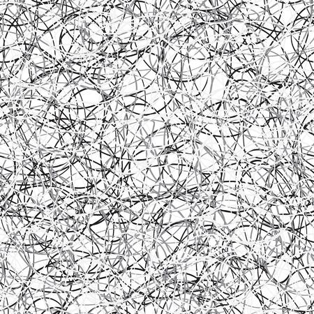 interweaving: Senza soluzione di continuit� trama quadrato bianco e nero - scribble - vector eps8 Vettoriali