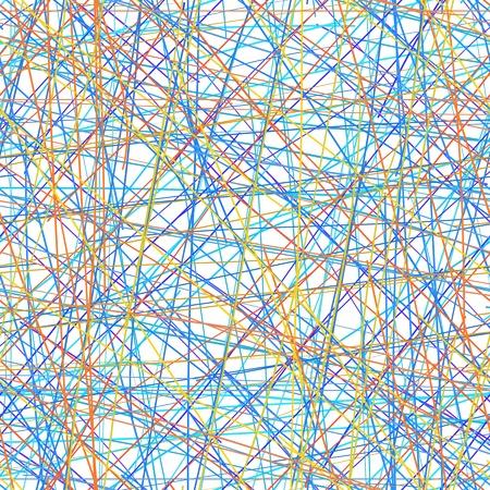 interweaving: Sfondo senza soluzione di continuit� delle linee di colore su sfondo bianco - vector eps8